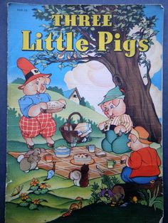 Three little pigs childrens book