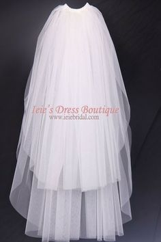 - Product Info - Veils Colors - This veil has 2 tiers, top tier is 29 inches (75cm), and bottom tier is 37 inches (95 cm). - Made with bridal tulle with a little more texture which will give a good vo