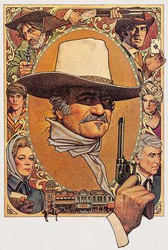 Richard Amsel poster art for The Shootist, 1976.