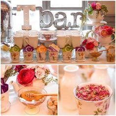 14 & Hudson /Paula Clemente Woods's Bridal/Wedding Shower / Garden Tea Party - Photo Gallery at Catch My Party Tea Party Bridal Shower, Bridal Shower Party, Bridal Shower Decorations, Bridal Showers, Baby Showers, Wedding Centerpieces, Tea Party Theme, Tea Party Wedding, Wedding Cake