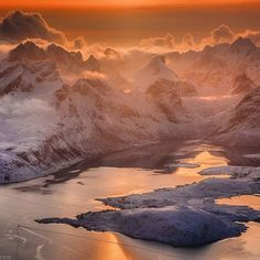 Another photo from our beautiful flight  above Lofoten islands during my workshop. Danielkordan.com #lofoten #Norway