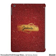 Personalized Gold Grungy Shiny Glitter Case iPad Air Cover