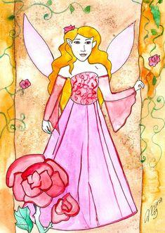 Lavender Rose Fairy - Fairychamber