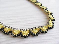 Free+Crochet+Necklace+Pattern+Chain   Beaded Crochet Chain Necklace Tutorial Pattern by LadyLina