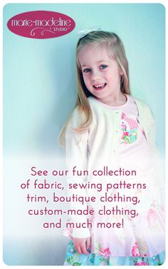 If you're looking for some fantastic patterns for any DIY home sewing projects, make sure you check out Marie-Madeline Studio!