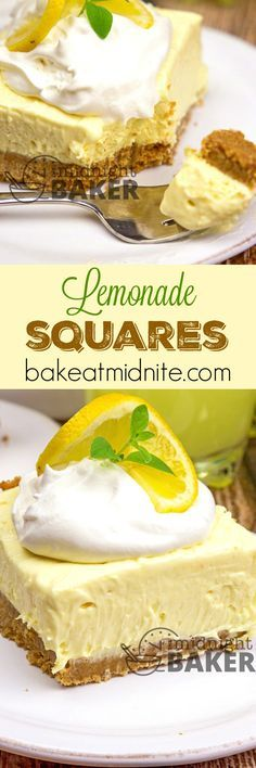 These lemonade squares are bursting with sunny lemon flavor. Very refreshing and easy to make too!