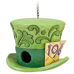 Alice in Wonderland Mad Hatter Birdhouse by Jim Shore : Disney Store - this would look awesome in the garden! Alice In Wonderland Animated, Alice In Wonderland Garden, Wonderland Party, Disney Garden, Chesire Cat, Disney Traditions, Mad Hatter Tea, Madd Hatter, Disney Home