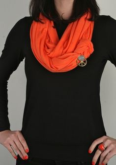 50% of proceeds from this orange scarf with donni charm benefiting the Nancy Davis Foundation for MS...super cute!