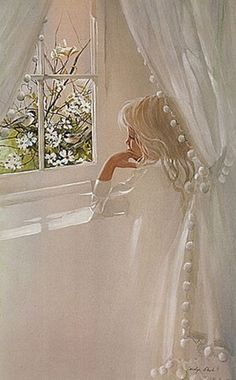 Little Girl at Window ~ Carolyn Blisch