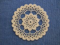 Crocheted Wheel  ~ free pattern via Ravelry
