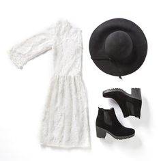 Love this folk-inspired look? Shop it in-store and online now at MRP.com  Dress R149.99 Boots R199.99 Hat R149.99