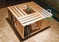DIY Crate Coffee Table | Dark Rye