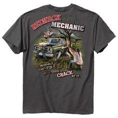 Redneck Mechanic T-shirt Probably Cant Fix It-xl
