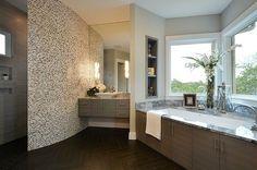 Bathroom herringbone wood floor Design Ideas, Pictures, Remodel and Decor Decor, Wood Floor Design, Contemporary Bathroom, Herringbone Wood Floor, Home, Bathroom Makeover, Bathroom Construction, Luxury Bathroom, Bathroom Design