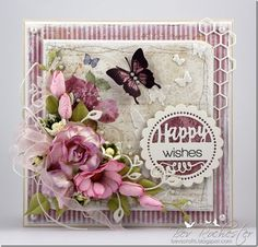 bev-rochester-maja-coffee-in-the-arbor1, Card with flowers