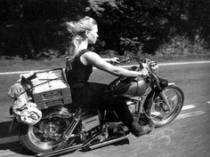 Black and White Lady rider