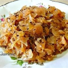 Bavarian Sauerkraut Recipe-my mom makes the best! Bavarian Sauerkraut Recipe, Sauerkraut Recipes, Cabbage Recipes, Pork Recipes, Vegetable Recipes, Cooking Recipes, Healthy Recipes, Cooking Sauerkraut, Cooking Corn