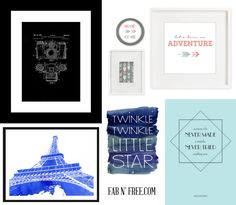 50+ FREE printable art, like so pretty that I would probably pay for these!