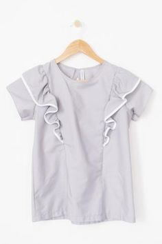 The Ruffle Top - Grey by Harper and Bay (breastfeeding top)