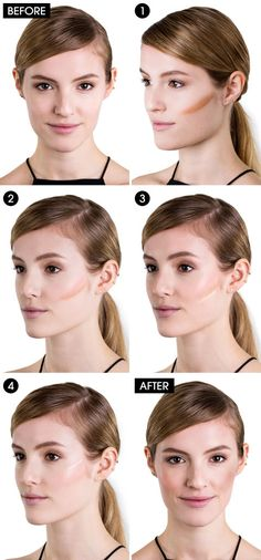 How to Contour in 4 Easy Steps - Contouring Make Up Tricks and Products