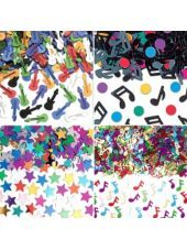 Rock-N-Roll Confetti 4 Pk 1oz-Theme Parties-Party City