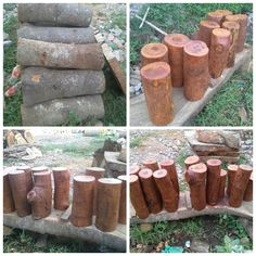 Our wooden log collection,   80cm, 60cm, 40cm in height. Perfect for your wedding isle,  For your information about our product and pricelist, contact us via;  FB; Bali Rustic Rental Instagram : bali rustic rental Email : goesbayuputra@yahoo.com Wa : 089655355052 Ph : 081238076101