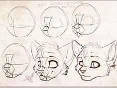 A few muzzle tricks! by Jay-Pines - Drawing tips and stuff - Cat Drawing Tutorial, Drawing Base, Manga Drawing, Drawing Sketches, Drawing Tips, Art Reference Poses, Drawing Reference, Animal Sketches, Animal Drawings