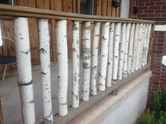 Birch Branch Railing--- love for a deck, patio, or porch