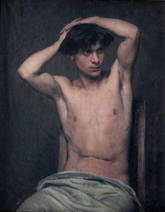 Doucet+Henri-Lucien+-+Half+Nude+Model.+1879.JPG (700×901)