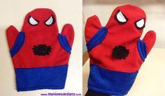 Marioneta spiderman. myvioletdesigns.com