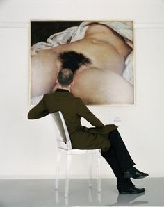 Man Looking at the Origin of the World, Jean-Baptiste Mondino | AnOther Loves