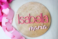 Decorate your nursery with this stylish, modern wooden name sign! Everything is hand crafted with a whole lot of love!  Each piece will be cut, sanded, painted and stained by hand. The stain may vary due to the grains and knots from the wood. That is what makes your sign so unique! Personalized Wooden Signs, Wooden Monogram, Wooden Name Signs, Wooden Names, Wood Signs, Name Plaques, Wood Letters, Handmade Wooden, Knots