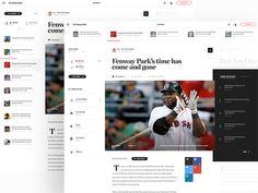 Initial Art Direction for Boston Globe