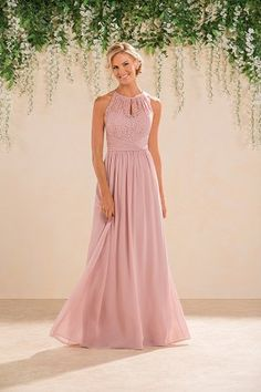 Wedding Dresses, Bridesmaid Dresses, Prom Dresses and Bridal Dresses Jasmine Bridesmaid Dresses - Style - Jasmine Bridesmaid Dresses, Spring Lace/Chiffon Floor length dress with open back. Shown in Misty Pink Also Available in or length. Jasmine Bridesmaids Dresses, Bridesmaid Dress Styles, Lace Bridesmaid Dresses, Bridal Dresses, Prom Dresses, Dress Prom, Prom Ballgown, Bridal Reflections, Jasmine Bridal