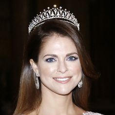Princess Madeleine with the Modern Fringe Tiara at a Nobel Prize gala in 2014.