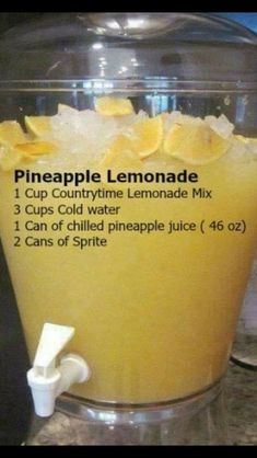 BBQ Party Food Ideas for a Crowd - this Pineapple Lemonade is so easy and SO yum. BBQ Party Food Ideas for a Crowd - this Pineapple Lemonade is so easy and SO Bbq Party, Bbq Food Ideas Party, Cheap Party Food, Bbq Ideas, Birthday Cookout Ideas, Easy Party Food, Food For Parties, Party Food Bars, Luau Birthday