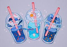 something special ♡ Aesthetic Drawing, Aesthetic Art, Aesthetic Anime, Arte Do Kawaii, Kawaii Art, Arte Copic, Cute Food Art, Japon Illustration, Cute Kawaii Drawings