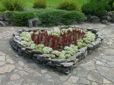 Heart shaped rock border
