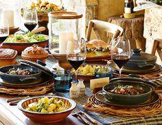 I love the Williams-Sonoma Dinner in Burgundy on williams-sonoma.com