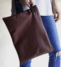 Oil Hide Leather Clutch | Tote around your tablet in something super durable and touchab... | Clutches & Special Occasion Bags