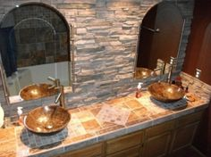 cool master bathroom! by Kay Berry