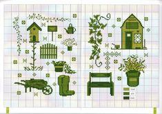 Схемы монохром, зеленый голубой и сиреневый - запись пользователя Анна (Анна) в сообществе Вышивка в категории Схемы вышивки крестом, вышивка крестиком