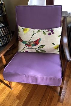 Mid Century Modern Chair Makeover Featuring PARA Tempotest Michelangelo  Hydrangea Fabric