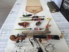 Deconstructed instrument brushes  Lorna Crane