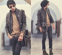 leather, leather, leather my-menswear-obsessions
