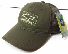 New CHEVROLET HAT Cargo-Green Relaxed-Fit Trucker Men/Women Car/Truck Chevy GM #GeneralMotors #BaseballCap