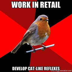 Retail Robin - Work in Retail Develop Cat-like Reflexes
