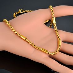 Stylish & Beautiful Gold Chain Designs for Men Mens Gold Bracelets, Mens Gold Jewelry, Black Gold Jewelry, Golden Jewelry, Charm Bracelets, Gold Chain Design, Gold Jewellery Design, Jewelry Model, Chain Jewelry