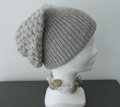 Ensemble bonnet et tour de cou mixte en laine   bonnets tricotés ... 298c3be44de