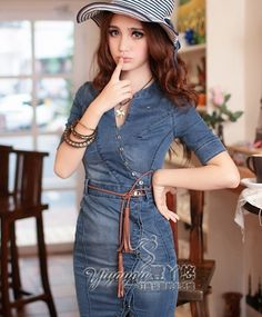 Korean Style Slim Cow Jumpsuit Blue--Click the picture can place an order,we support wholesale denim. #shoes #wholesale #fashion #lovely #cheap #Korean #dress #sexy #denim